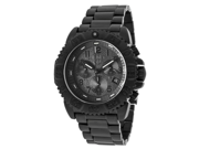 Men's Steel Colormark Chronograph Black Dial Black Ion Plated Stainless Steel