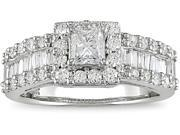 14K White Gold 1-3/8 ctw Diamond Engagement Ring H-I,I1