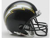 Creative Sports RD-CHARGERS-MR88-06 San Diego Chargers 1988-2006 Throwback Riddell Mini Football Helmet