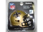 Creative Sports RPR-SAINTS New Orleans Saints Riddell Revolution Pocket Pro Football Helmet