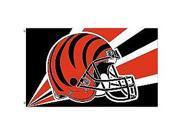 Fremont Die- Inc. 94218B 3 Ft. X 5 Ft. Flag W/Grommetts - Cincinnati Bengals