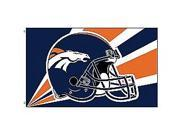 Fremont Die- Inc. 94232B 3 Ft. X 5 Ft. Flag W/Grommetts - Denver Broncos