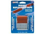 Incom Manufacturing 2in. X 25 Red & Silver Highly Reflective Tape  RE2125