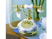 Golden Eagle PORCELAIN-BLUE 9008 Nostalgic Porcelain Phone - Blue and White