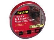 3M 4011LONG Exterior Weather-Resistant Double-Sided Tape  1 x 450  Gray with Red Liner