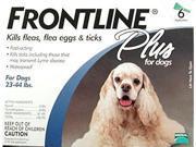 Merial FRONTLINEPLUS6-BLUE Frontline Plus 6 Pack Dog 23-44 Lbs. - Blue
