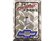 Chevy Heartbeat Diamond Light Switch Covers (single) Plates LS10160