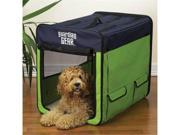 Pet Pals ZA420 31 Guardian Gear Collapsible Crate Med Lime-Blue S