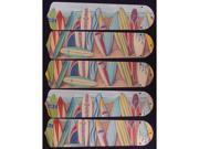 Ceiling Fan Designers 52SET-KIDS-HSSB Hawaiian Surfboards 52 in. Ceiling Fan Blades Only