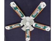 Ceiling Fan Designers 52FAN-NFL-MIA NFL Miami Dolphins Football Ceiling Fan 52 In.