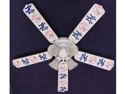Ceiling Fan Designers 52FAN-MLB-NYY MLB York Yankees Baseball Ceiling Fan 52 In.