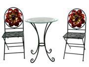Pinnacle Strategies Metal Bistro Table & Chair Set  J10827JQ3-UPS