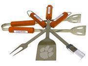 Bsi Products 61025 4 Pc Bbq Set - Clemson Tigers