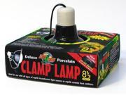 Zoo Med Deluxe 8.5in Porcelain Black Clamp Lamp for Reptiles
