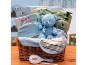 Gift basket 890533-B Organic New Baby Basics Gift Baskets - Blue