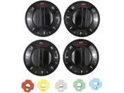 Range Kleen 4 Piece Black Electric Range Replacement Knobs  8114