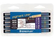 Alvin 308CS5 Pigment Liner Black Set-5