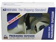 Lepages Inc Clear Packaging Tape With Tape Gun  82227