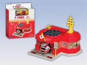 Daron Worldwide Trading RT8720 FDNY Mini Fire Station with 1 Vehicle