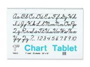 PACON CORPORATION PAC74620 CHART TBLT 24X16 INCH 1 RULED 25 CT