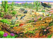 Outset Media 58815 Life in the Desert - 35 piece tray puzzle