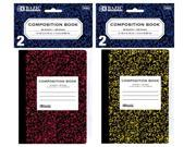 Bazic 5054- 24 80 Ct. 4.5 in. x 3.25 in. Mini Marble Composition Book- Pack of 24
