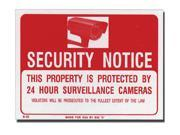 Bazic Products S-55-24 9 in. x 12 in. Security Notice Sign - Box of 24