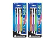 Bazic 772-144 Electra 0.7 mm Fashion Color Mechanical Pencil with Gel Grip - 3-Pack