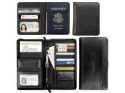 Leeds 1100-65 Metropolitan Deluxe Travel Wallet - Black