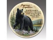 American Expediton CTST-101 Black Bear Stone Coaster Set