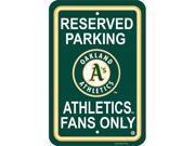 Fremont Die 60211 Plastic Parking Signs  - Oakland Athletics
