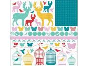 Kaisercraft SS123 Hummingbird Cardstock Stickers 12 in. X12 in. -  -Pack of -5