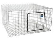 Rabbit Hutch 24 X 24In MILLER MFG CO Cages & Hutches AH2424 Silver