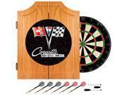 Trademark Poker Corvette C2 Black Wood Dart Cabinet Set