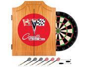 Trademark Poker Corvette C2 Red Wood Dart Cabinet Set