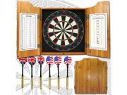 TGT Solid Wood Dart Cabinet Set - Pro Style Board and Darts