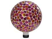 Alpine Corp GRS110PK Mosaic Gazing Ball in Pink-Yellow