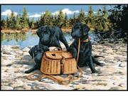 Custom Printed Rugs GONE FISHING Gone Fishing Wildlife Rug