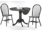 International Concepts K46-42DP-C212-2 Set of 3 pcs - 42 in. Dual Drop Leaf Table with 2 Windsor Chairs