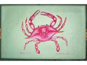 "Betsy Drake DM102 Pink Crab Door Mat 18""x26"""