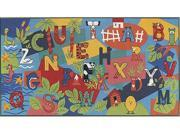 Custom Printed Rugs Alpha Play 3 ft. x 6.6 in. Learn Your Abc ft.s Rug