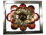 Pinnacle Strategies Metal Orange Flower Wall Plaque  J10146-UPS