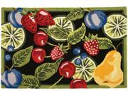 "Homefires PY-JB061 22"" x 34"" Fresh Fruit Handmade Accent Rug"