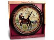 American Expedition AMEWCLK110 Wall Clock Mustang