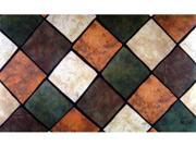 Custom Printed Rugs Dm-32 Multi Tiles Door Mat