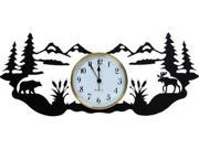 Village Wrought Iron CLK-W-180-L Wrought Iron Wall Clock Adirondack