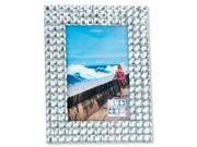 Sixtrees Picture Frame GT64646 4 in. x 6 in. White Jewels Overall