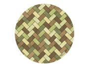 Thirstystone TSNZ10 Thirstystone Set of 4 Sandstone Coasters - Green and Brown Herringbone