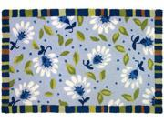 """Homefires PY-JC006 22"""" x 34"""" Blue Morning Area Rug"""