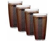Kraftware 32524 Fishnet 24 Oz Doublewall Drinkware Set/4 Chocolate